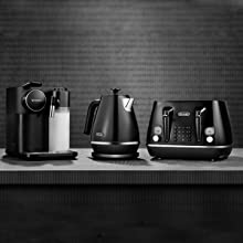 coffee machine, kettle and toaster
