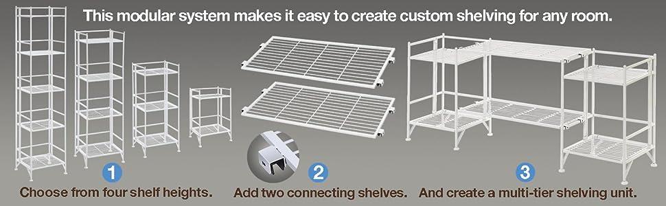modular metal shelves