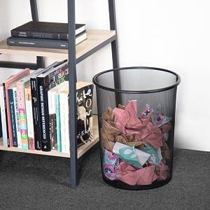 office desk accessories, office accessories, office trash can, steel trash can