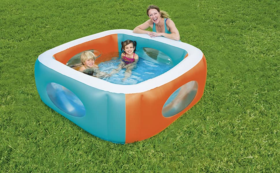 Bestway 51132 - Piscina Hinchable Infantil Window 168x168x56 cm ...