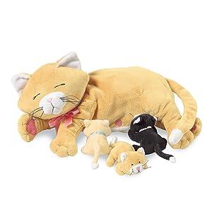 Amazon Com Manhattan Toy Nursing Nina Cat Nurturing Soft Toy Toys
