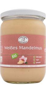 Eisblümerl Bio Weißes Mandelmus, extra fein im 250g und 500 g Glas