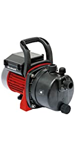 Bomba de jard/ín Einhell GC-GP 1250 N 1200 W, m/áx. 5000 L // h, cabeza m/áxima 50 m, indicador de nivel de agua, tap/ón de llenado // drenaje de agua, protecci/ón contra heladas, protecci/ón t/érmica