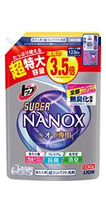 トップ スーパーNANOXニオイ専用 詰め替え用 1230g