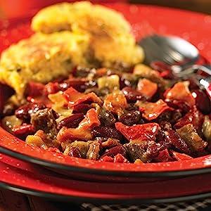 Chipotle Beef Chili and Chili Cornmeal Cakes