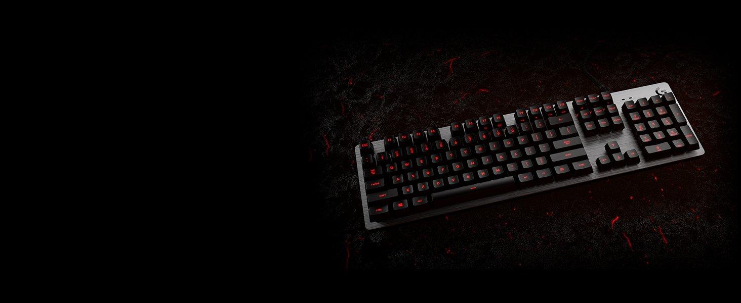 Logitech G413 Teclado Gaming Mecánico, Teclas retroiluminadas, Teclas Romer-G Táctil, Aleación de Aluminio, Teclas personalizables, Paso de USB, ...