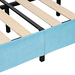 Children Upholstered Bed Frame Twin Size