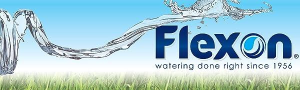 Flexon, garden hose, heavy duty garden hose, rubber garden hose, lightweight garden hose, kink free