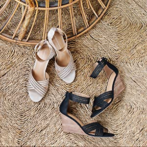 Report Shoes SHARON natural and black