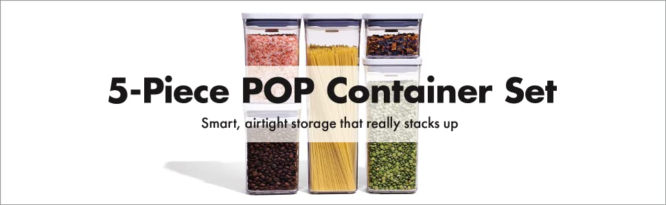 OXO Good Grips POP 5 Piece Container Set