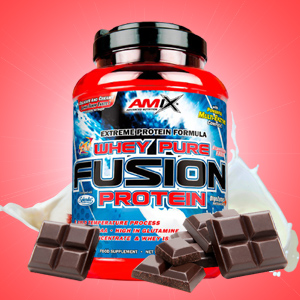 AMIX Whey Pure Fusion, Proteínas, Chocolate, 1000g