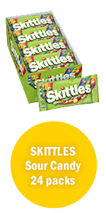 Skittles Sour Candy Single Size Candy Bags