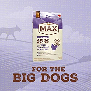 Nutro Max Adult Farm Raised Chicken Dry Dog Food, for big dogs, specially formulated, large dog food