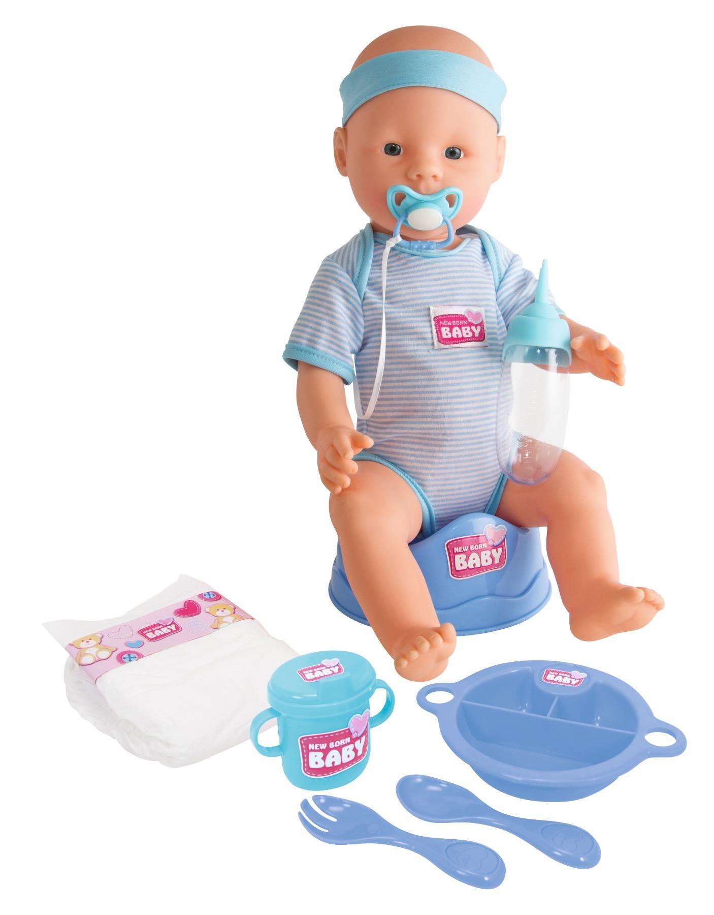 simba 105030044 new born baby puppen junge 43 cm. Black Bedroom Furniture Sets. Home Design Ideas