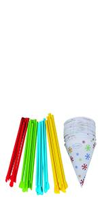 Snow Cone Cups & Spoon Straws