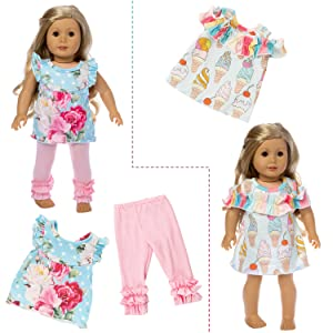 """Hot Handmade 18/"""" Inch American Girl Doll Accessories Fashion Doll Clothes Set"""