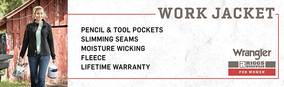 RIGGS Workwear Female Full-Zip Moisture Wicking Work Jacket