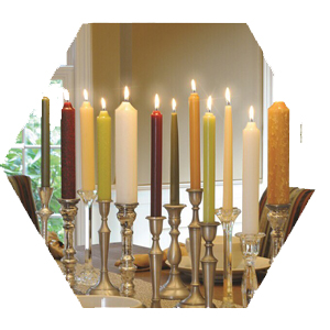 beeswax dinner taper candles all natural