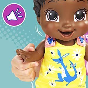 Wets, Bunny Bounces with 25+ SFX Drinks Baby Alive Baby Gotta Bounce Doll