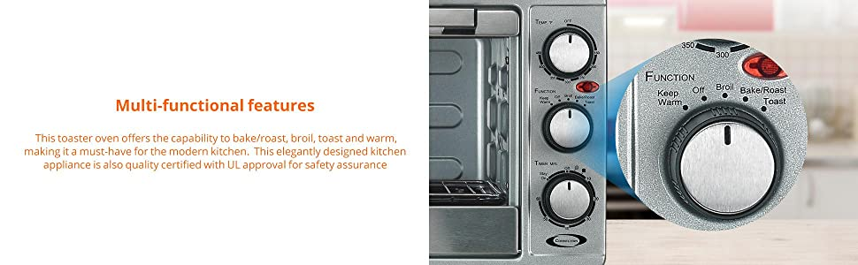 Amazon Com Rosewill 6 Slice Convection Toaster Oven