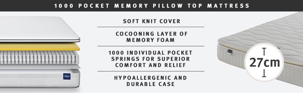 Memory,pocket spring,comfort,mattresses,silentnight,made in the UK