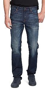 william rast men's hixson straight leg denim jeans