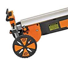 Folding Miter Saw Power Tool Stand With Wheels Light