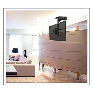 Puremounts Pm Slope 23 Premium Deckenhalterung Für Fernseher Optimal Für Dachschrägen Neigbar Max 105 Höhenverstellbar Traglast Max 20kg Vesa Bis 100x100 Universell Heimkino Tv Video