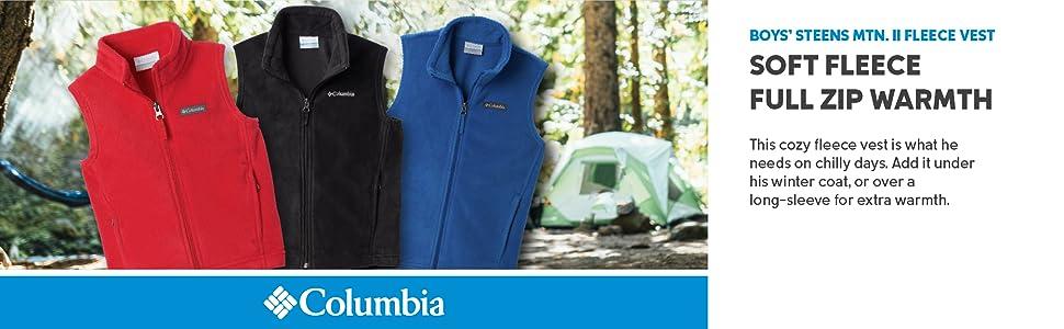 Columbia Youth Boys Steens Man Mountain II Fleece Vest