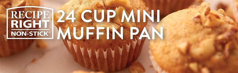 Wilton, Recipe Right, mini muffin pan, mini cupcake pan, nut cup cookies, bite-sized appetizers