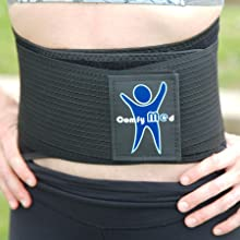 ComfyMed Breathable Mesh Lower Back Brace for Men and Women light weight stays in place