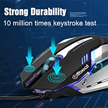 Offbeat wired gaming mouse mice