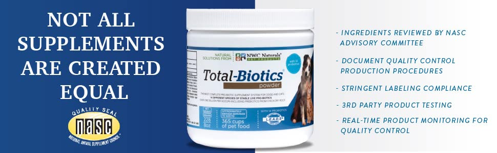 Total-Biotics NASC Probiotics for Pets, Dogs and Cats, Puppies and Kittens