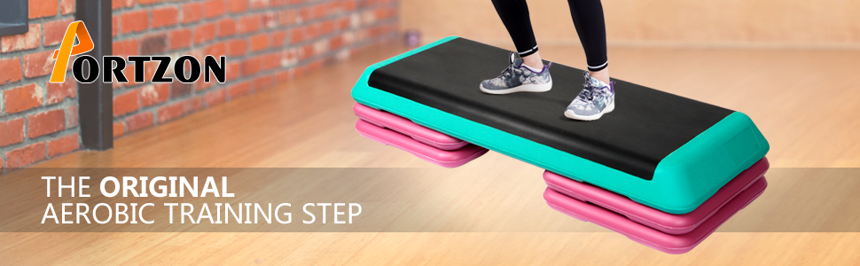 Amazon Com Portzon Platform Stepper With 4 Aerobics Premium
