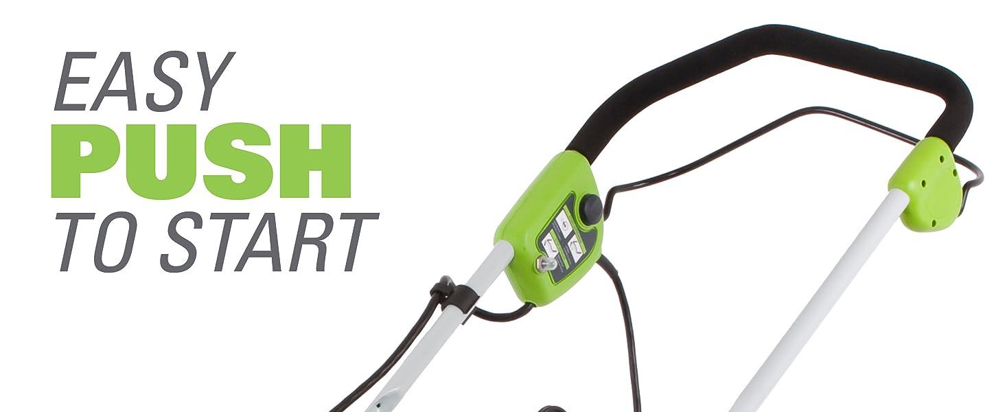 Amazon.com : Greenworks 20-Inch 12 Amp Corded Lawn Mower 25022 ...