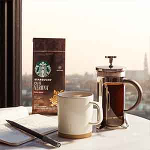 STARBUCKS Espresso Roast Dark Roast Whole Bean Coffee