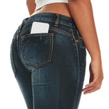 dark butt lift jeans