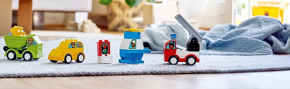Camión de bomberos, helicóptero, taxi y camión de la basura