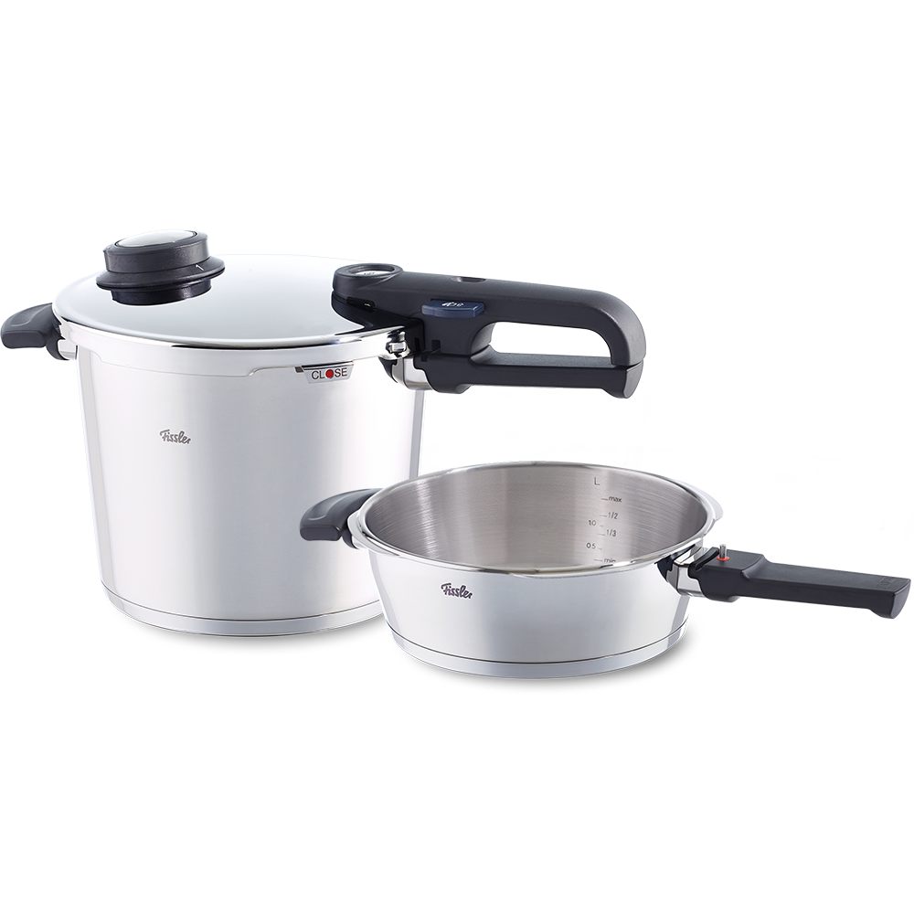 fissler schnellkochtopf set vitavit premium 2 teilig schnellkochtopf 6 l u schnellbratpfanne. Black Bedroom Furniture Sets. Home Design Ideas