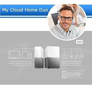 WD My Cloud Home Duo 8 TB Persönlicher Amazon puter & Zubehör