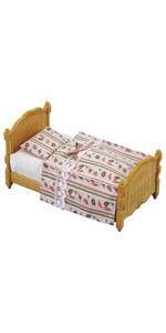 シルバニアファミリー 家具 シングルベッド カ-523