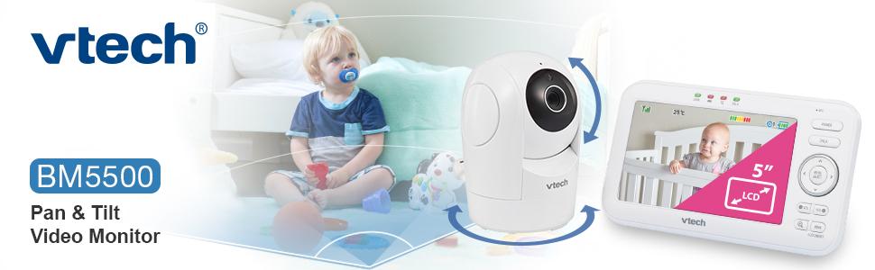 VTech BM5500 pan & tilt video audio monitor