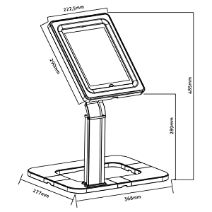 einstellbare Innenma/ße PureMounts PDS-5510 Uinversalstandfu/ß f/ür Tablets 24,6-25,6cm H/öhe 481mm 9,7-10,1 abnehmbares Geh/äuse