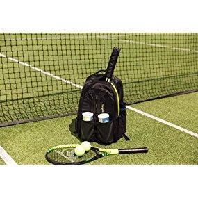 Targus Work + Play Racquet 27l - Mochila ideal para gimnasio, deportes, tenis, squash y bádminton, se adapta a portátiles de hasta 15.6