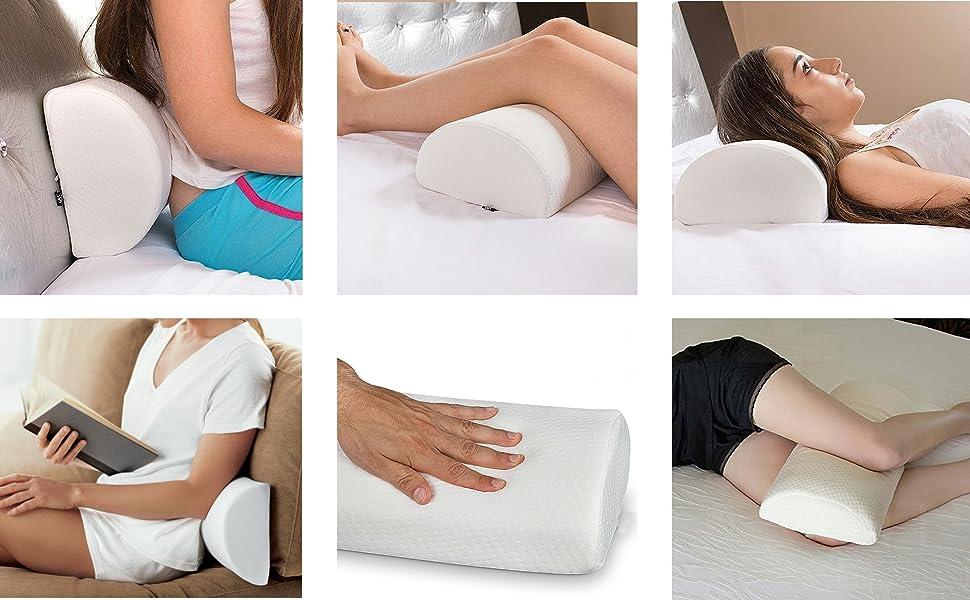 Medipaq Half Moon Memory Foam Cushion Pillow Use For