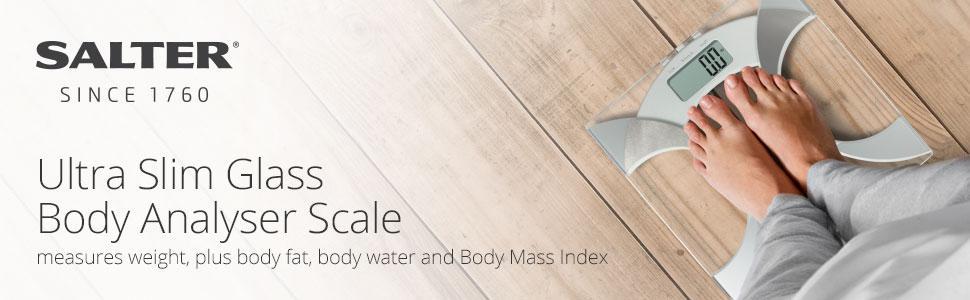 Salter Ultra Slim Analyser Bathroom Scales Measure Weight