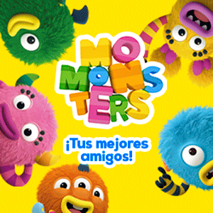 Momonsters, amigos, clan, peluches, serie, dibujos, juguetes