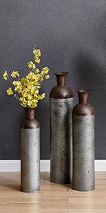 vase and sculptures
