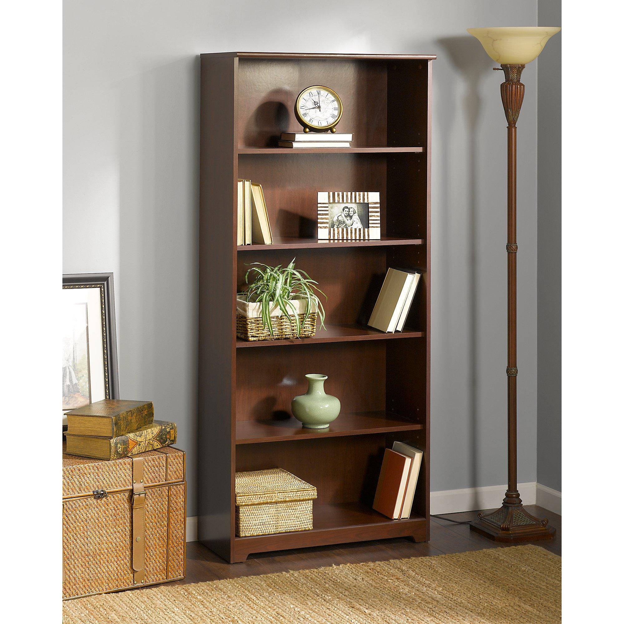 cabot 5 shelf bookcase kitchen dining. Black Bedroom Furniture Sets. Home Design Ideas