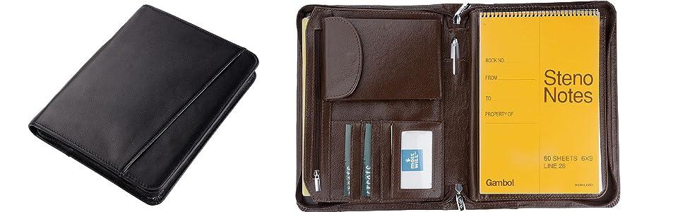Amazon.com: Compact Deluxe Funda portadocumentos de piel ...
